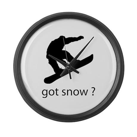 got snow? Large Wall Clock