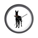 Christmas or Holiday Great Dane Silhouette Wall Cl