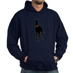Christmas or Holiday Great Dane Silhouette Hoodie