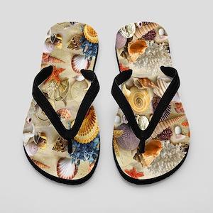 Seashell Shell Flip Flops