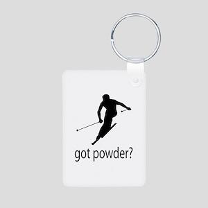 got powder? Aluminum Photo Keychain