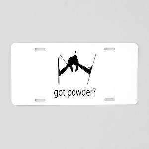 got powder? Aluminum License Plate