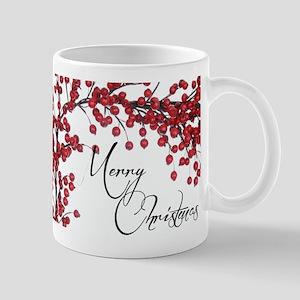 Merry Christmas Berries Mug