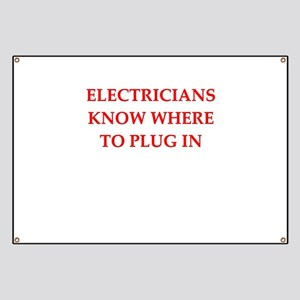 funny electrician Banner