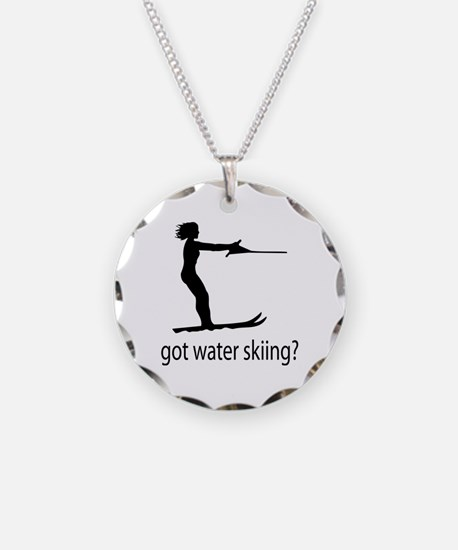 got water skiing? Necklace Circle Charm