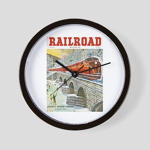 Railroad Magazine Cover 1 Wall Clock
