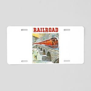 Railroad Magazine Cover 1 Aluminum License Plate