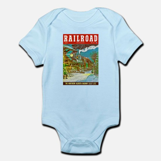 Railroad Magazine Cover 2 Infant Bodysuit