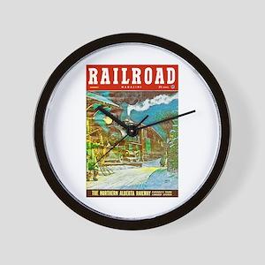 Railroad Magazine Cover 2 Wall Clock