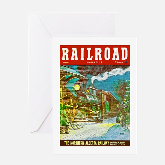 Railroad Magazine Cover 2 Greeting Card