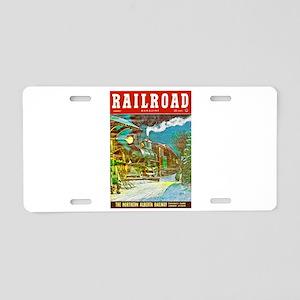 Railroad Magazine Cover 2 Aluminum License Plate