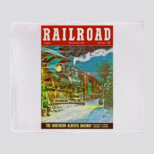 Railroad Magazine Cover 2 Throw Blanket