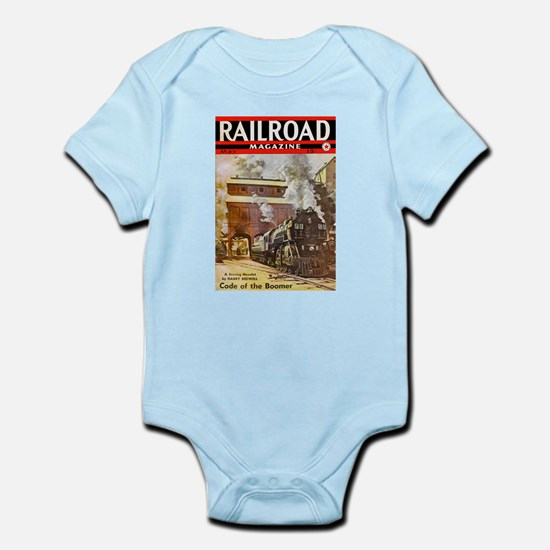 Railroad Magazine Cover 3 Infant Bodysuit
