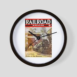 Railroad Magazine Cover 3 Wall Clock