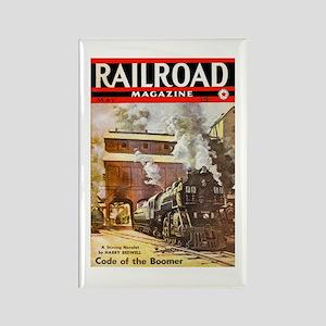 Railroad Magazine Cover 3 Rectangle Magnet