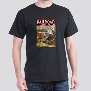 Railroad Magazine Cover 3 Dark T-Shirt