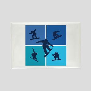 Nice various snowboarding Rectangle Magnet