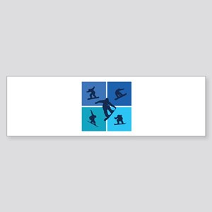 Nice various snowboarding Sticker (Bumper)