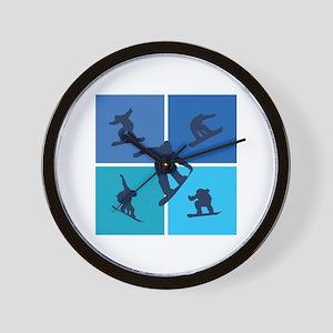 Nice various snowboarding Wall Clock