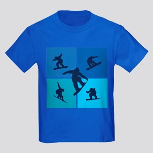 Nice various snowboarding Kids Dark T-Shirt
