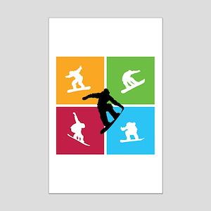 Nice various snowboarding Mini Poster Print