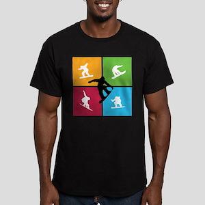 Nice various snowboarding Men's Fitted T-Shirt (da