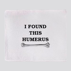 i found this humerus Throw Blanket