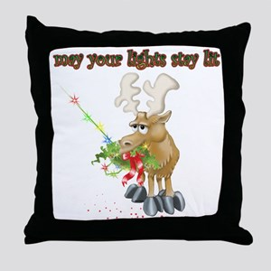 May Your Lights Stay Lit Throw Pillow
