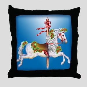 Carousel Christmas Throw Pillow