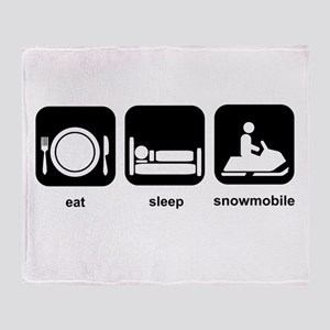 Eat Sleep Snowmobile Throw Blanket