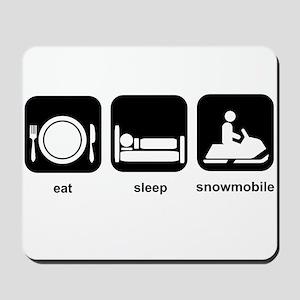 Eat Sleep Snowmobile Mousepad