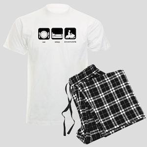 Eat Sleep Snowmobile Men's Light Pajamas