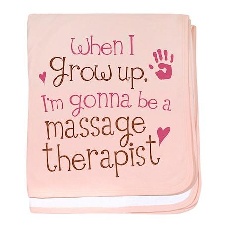 Kids Future Massage Therapist baby blanket