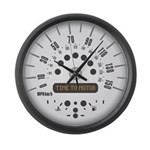 TIME TO MOTOR Large Wall Clock
