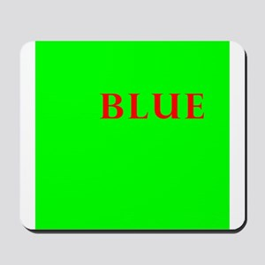 Off center yellow, blue, red, green Mousepad
