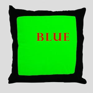 Off center yellow, blue, red, green Throw Pillow