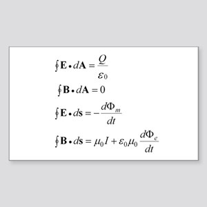 Maxwell's Equations Sticker (Rectangle)