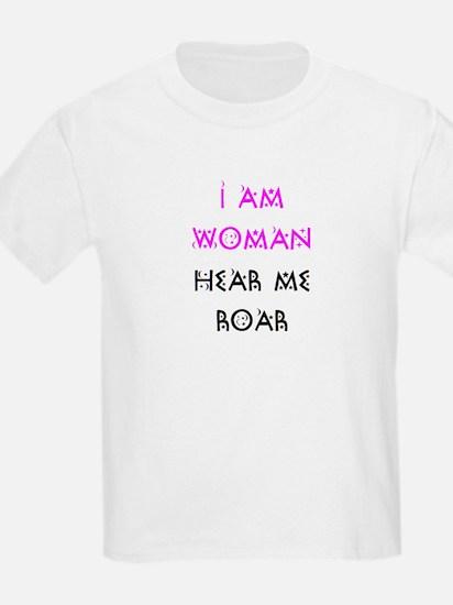 woman hear me roar T-Shirt