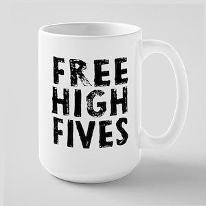 Free High Fives Large Mug