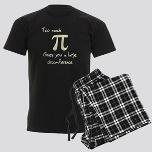 Pi Circumference Men's Dark Pajamas
