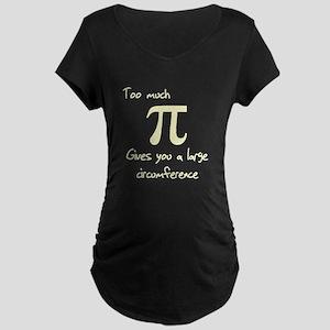 Pi Circumference Maternity Dark T-Shirt