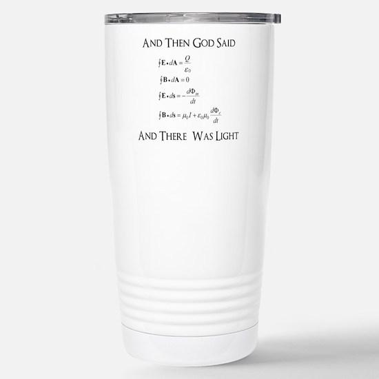 And God Said... Funny Stainless Steel Travel Mug