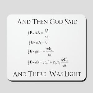 And God Said... Funny Mousepad