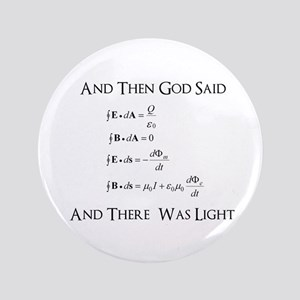 "And God Said... Funny 3.5"" Button"