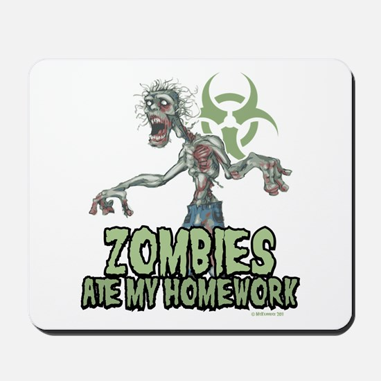 Zombies Ate My Homework Mousepad