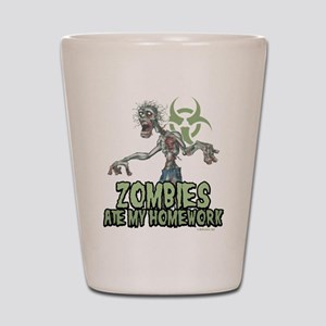 Zombies Ate My Homework Shot Glass