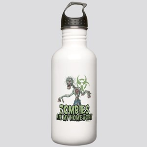 Zombies Ate My Homework Stainless Water Bottle 1.0