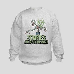 Zombies Ate My Homework Kids Sweatshirt