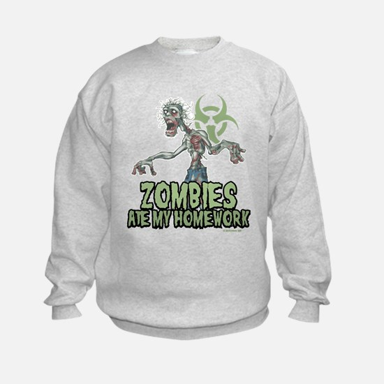 Zombies Ate My Homework Sweatshirt