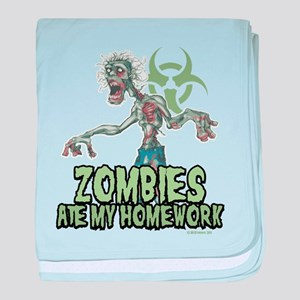 Zombies Ate My Homework baby blanket